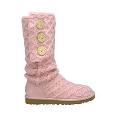 Ugg Lattice Cardy Women's Pull-on Boots Pink - UGG Australia - Polyvore