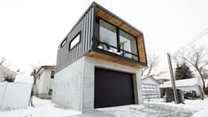 Canadian company Honomobo builds modern homes, offices, studios, multi-family complexes, and more out of shipping containers. These efficient modern prefabs raise the bar for shipping container homes - Curbed Prefab Container Homes, Container Homes For Sale, Building A Container Home, Container House Plans, Shipping Container Homes, Prefab Homes, Modular Homes, Container Cabin, Container Buildings