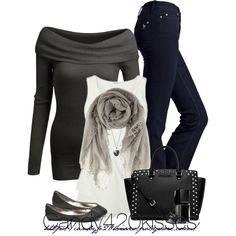 A fashion look from February 2014 featuring Doublju sweaters, MiH Jeans jeans and MICHAEL Michael Kors handbags. Browse and shop related looks.