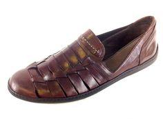 New Cole Haan Men Bragano Brown Weave Leather Slip on Loafers Shoes 10 5 M Nice | eBay
