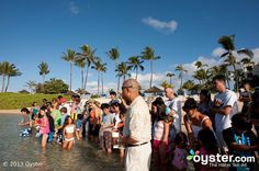Fish Feeding at Kids Activities at the Marriott's Ko Olina Beach Club