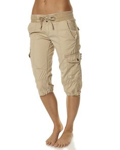 Cargo Shorts for Women | ... - WOMENS - SHORTS - CARGO - RUSTY COMMAND 3 QUARTER SHORT - FENNEL