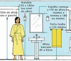 #Medidas importantes e ideias para #distribuição e #organização do #box bancadasetc em #banheiros e #lavabos pequenos? Veja no #simplesdecoracao ! Link no perfil