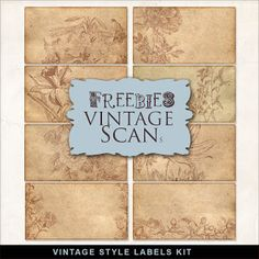 Etiquetas Freebies estilo vintage