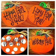autumn door decorations   Pumpkin Door Sign! Custom Hand Painted Fall Pumpkin Door Sign, Door ...