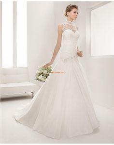 A-line Balayage / pinceau train Automne Robes de mariée 2015