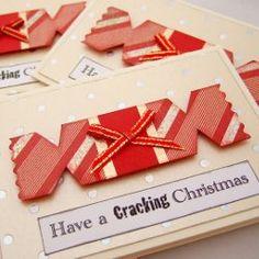 A homemade Christmas card idea - Xmas Crackers - have a Cracking Christmas!