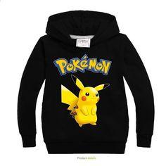 Pokemon Pikachu Mädchen Jungen Langarm T-shirt Kapuzenpullover Pulli Kostüm NEU