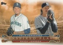 2015 Topps Inspired Play #I-14 Randy Johnson Felix Hernandez - Seattle Mariners