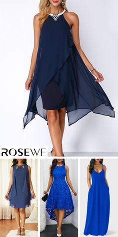 Asymmetric Hem Embellished Neck Navy Blue Chiffon Dress Asymmetric Hem Embellished Neck Navy Blue Chiffon New sign-ups get off for all first orders, free. Blue Dresses For Women, Girls Dresses, Flower Girl Dresses, Diy Dress, Dress Up, Dress Party, Blue Chiffon Dresses, Chiffon Gown, Groom Dress