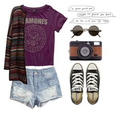 punch you by jocelynj17 on Polyvore featuring moda, Leon & Harper, H&M, Converse and Lomography