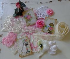 Inspiration Kit - VINTAGE IN PINK by TeacupAndRoses on Etsy