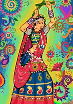 123RF - Millions of Creative Stock Photos, Vectors, Videos and Music Files For Your Inspiration and Projects. Dancing Drawings, Bff Drawings, Dance Paintings, Indian Art Paintings, Rajasthani Art, Bengali Art, Madhubani Painting, Kalamkari Painting, Dance Crafts