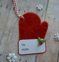 Christmas Tags Mitten Tags Christmas Gift by CraftyClippingsbyPeg