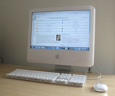 """Imac G5 20"""" 1st Generation: This was me & Nicole's 1st major purchase together as a couple. Beautiful machine. We loved it! The 1st generation did not have the internal isight camera. You mounted it on top. Very funny."""