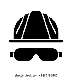 Vektor Stok Engineer Icon Safety Helmet Editable Icon (Tanpa Royalti) 1859203975