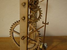 Galileo's Pendulum Clock- a functional replica of Galileo's pendulum for use as a teaching tool.  Plans available for free to download and cut on a laser cutter