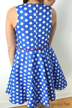 Tutorial Tween Polkadot Circle Dress