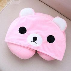 [Harajuku Toy Shop] Cute Brand New Comfy Hooded Neck Pillow Perfect For Travelling