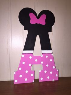 13 inch hand painted Minnie Mouse inspired by CraftyCreationsbyEQ