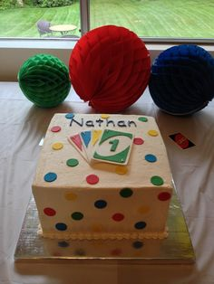 Uno Cake for 1st birthday