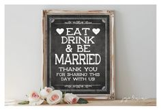 Instant 'Eat Drink and be Married Thank you for by JoJoMiMi
