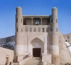 С. М. Прокудин-Горский. Въезд в крепость Арк в Старой Бухаре