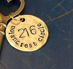 $14 *pick smooth brass* BRASS address charm ONLY by ancypants on Etsy
