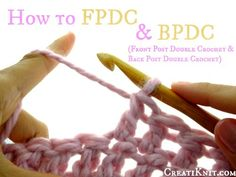 If you've ever seen FPDC or BPDC in a pattern, or wondered what it meant…here it is!
