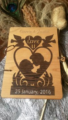 Ornaments Rustic Wood Guest book Custom Engraved Guest book Wooden Love Guestbook Yin Yang Symbol Guest Book Wedding Wooden Guest Book