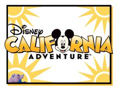 "California Adventure - Disneyland - Project Life Filler/Title Card - Scrapbooking ~~~~~~~~~ Size: 4x3"" @ 300 dpi. This card is **Personal use only - NOT for sale/resale** California Adventure/logos/clipart belong to Disney *** Click through to photobucket for a 6x4"" version of this card ***"