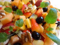 Edel's Mat & Vin : Fruktsalat med vanilje & cognac ✿ Fruit Salad, Food, Fruit Salads, Meals