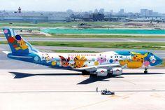 B747 de ANA con livery especial de Pokemón: , vía @iLove_Aviation