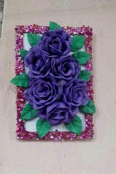 Quadro de rosas em 3D