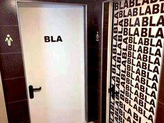 Ooit zo'n originele wc deur tegengekomen?;)
