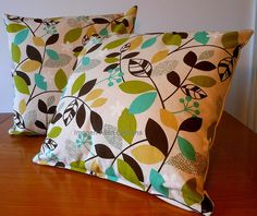 Two Cushion covers Japanese linen cotton by ImogenAllenDesigns