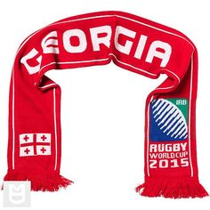 Georgia - Rugby WC 2015 Scarf Ideal Gift for all Rugby Fans Scarf Dimensions x approx Brand New with Tags - Header Card Official Licensed Irb Rugby, Rugby World Cup, Header, Georgia, Fans, Brand New, Sport, Gift, Deporte