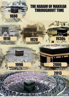 #kaba - khana kabaa different looks in different years. #Pilgrimage  #qibla  #kabaa
