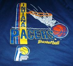Vintage 1980s Indiana Pacers basketball by thriftyoutfitters, $10.00
