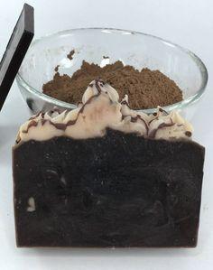 Natural Soap-Chocolate fudge soap-Gourmet soap-Homemade soap-Vegeterian soap-Cocoa Soap-Mocha soap-Nourishing soap-Raw soap-Godiva chocolate by EnchantedBrookSoaps on Etsy