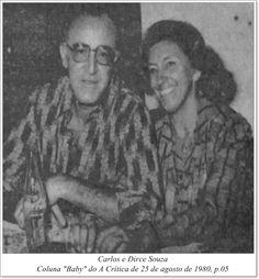 """Carlos e Dirce Souza. Coluna """"Baby"""" do A Crítica de 25 de agosto de 1980."""