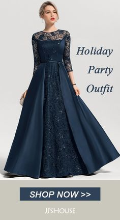 Christmas Dresses For Your Gorgeous Party Outfit For Fall/Winter Holidays. Tons of Styles on Sale! Tailor-Made In All Sizes & Colors. Formal Dresses Long Elegant, Affordable Evening Dresses, Formal Evening Dresses, Godmother Dress, Evening Gowns With Sleeves, Dress Brokat, Winter Holidays, Fall Winter, Holiday Party Outfit