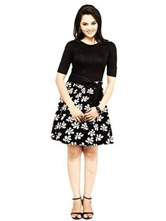 cottinfab-Womens-Dress-7070B1-SmallBlack-MultiSmall