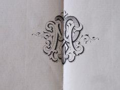 Antique French Paper Wedding Invitation Dated 1884 - Genuine & Original
