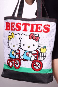 7d0a70411752 White Multi Hello Kitty And Mimmy Besties Tote Handbag. - http://www