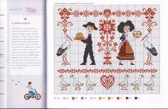 Points de croix *@* Alsace Xmas Cross Stitch, Cross Stitch For Kids, Cross Stitch Charts, Cross Stitching, Cross Stitch Embroidery, Cross Stitch Patterns, Oriental Pattern, Folk Art, Fairy Tales