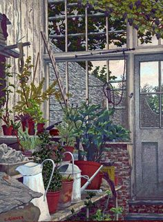 Charles Ginner The Greenhouse