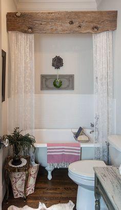 Bathroom art Bohemian Vintage Orange Roses shower curtain unique wedding gift for couple S#30 Bathroom Sets Home decor