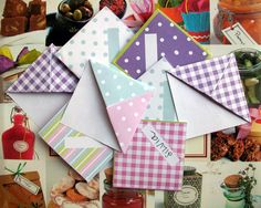 Freebie – Free Origami Bookmarks ~ I made these with scrapbook paper cut into 4x4 squares  they are super cute and super easy