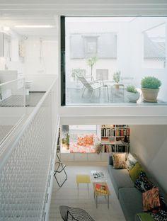Casas estilo loft: Townhouse - Living doble altura